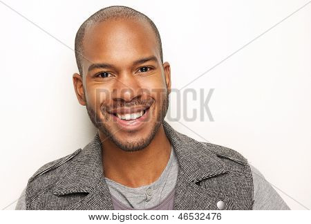 Portrait Of A Handsome Young Man Smiling