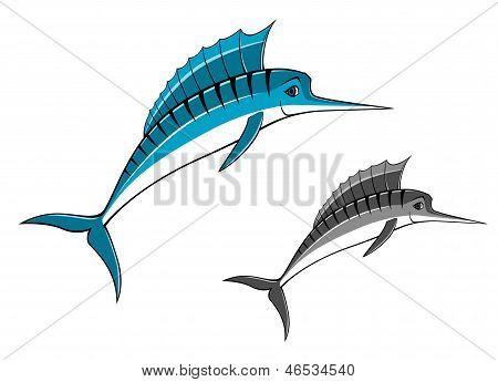 Peixe marlin azul