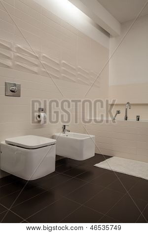 Casa de travertino - baño