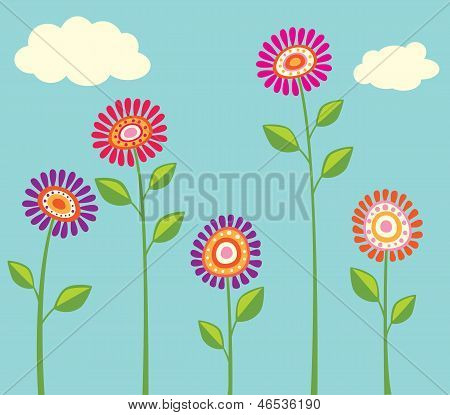 Coleção flor brilhante
