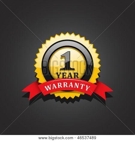 Warranty emblem vector