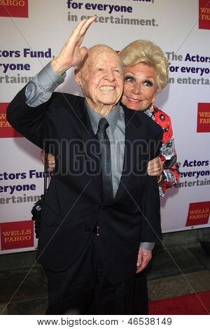 LOS ANGELES - JUN 9: Mickey Rooney and Mitzi Gaynor at The Actors Fund's 17th Annual Tony Awards Viewing Party at the Taglyan Cultural Complex on June 9, 2013 in Los Angeles, California