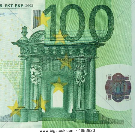 100 Euro Close-up