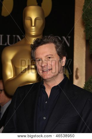 LOS ANGELES - FEB 7:  COLIN FIRTH arrives to the 83rd Academy Awards Nominees Luncheon  on Feb 7, 2011 in Beverly Hills, CA