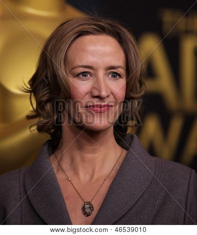LOS ANGELES - FEB 6:  JANET McTEER arrives to the 2012 Academy Awards Nominee Luncheon  on Feb 6, 2012 in Beverly Hills, CA