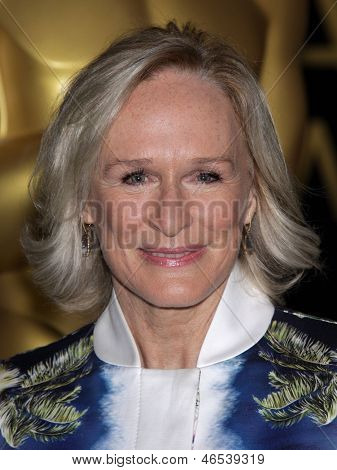 LOS ANGELES - FEB 6:  GLENN CLOSE arrives to the 2012 Academy Awards Nominee Luncheon  on Feb 6, 2012 in Beverly Hills, CA