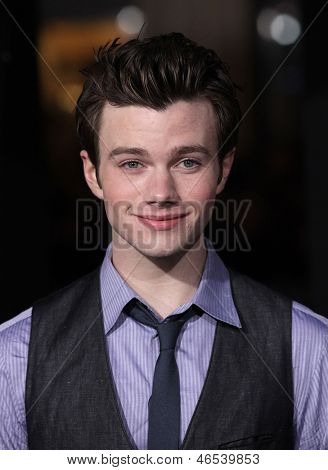 LOS ANGELES - DEC 05:  CHRIS COLFER arriving to