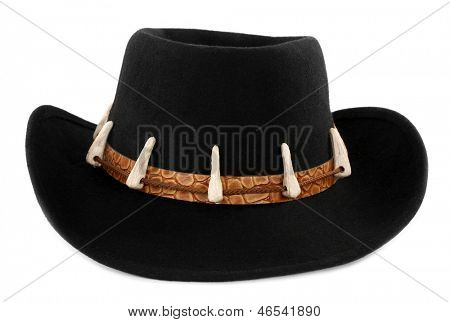 Adventure Hat with crocodile teeth