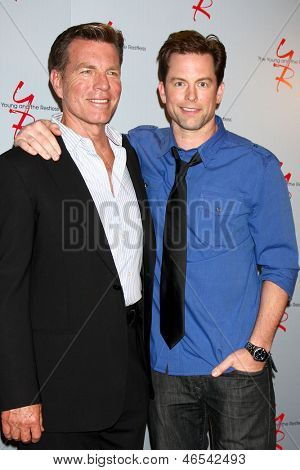 LOS ANGELES - JUN 4:  Peter Bergman, Greg Rikaart arrives at SAG-AFTRA Panel Discussion With The Cast Of