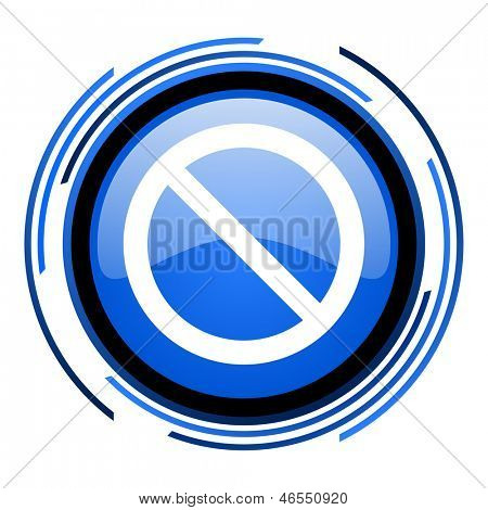access denied circle blue glossy icon