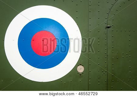 Bulls Eye Target On Military Helicopter