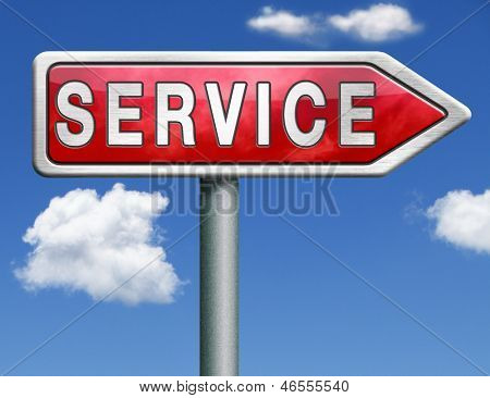 service get online help and support client or customer service button service icon red road sign arrow with text and word concept