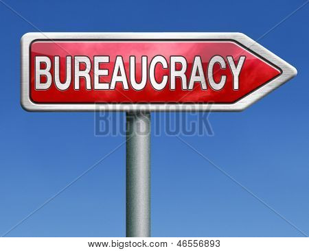 bureaucracy paper work business and public administration of official files and documents
