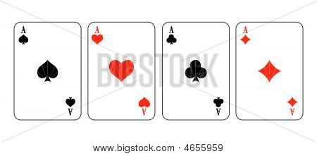Simple Vector Illustration Of Game Cards