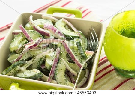 Cucumber And Red Onion Salad