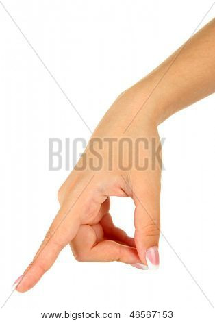 Finger Spelling the Alphabet in American Sign Language (ASL). Letter P