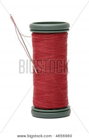 Needle On Reel Of Thread