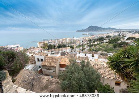 Calpe Coastal resort seen from a hill