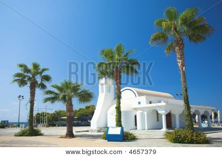 White Church And Palms, Agia Napa