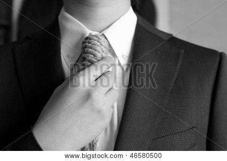 Portrait Of Man With Loop Tie