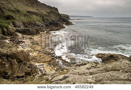 Beautiful landscpae of Porth Nanven beach