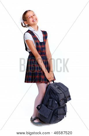 Cheerful schoolgirl