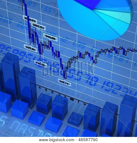 Blue charts