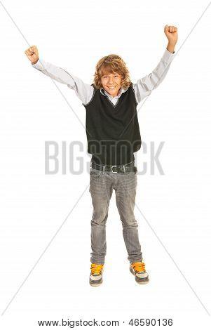 Victorious Teen Boy
