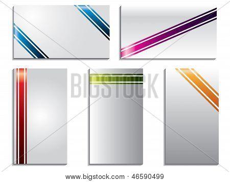 Color despojado de tarjetas