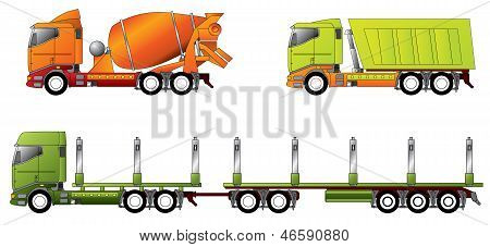 Construction And Timber Truck