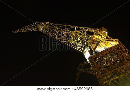 Port Crane By Night