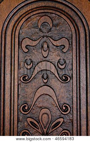 Fragment Brown Wooden Door