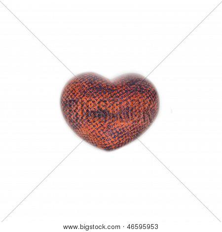 Coração laranja preto vermelho
