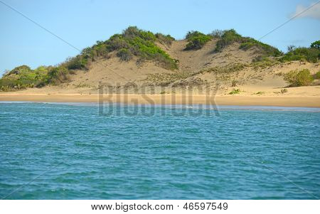 Sand Dune Landscape In Panama With Ocean And Nature