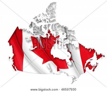 Kanadische Karte-Flagge