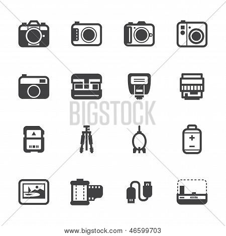 Camera Icons and Camera Accessories Icons
