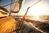 picture of horizon  - Sailing regatta - JPG