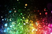 foto of glowing  - Rainbow of lights - JPG