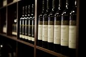 pic of wine cellar  - A large selection of wines at a Winery in the Margaret River area of South Western Australia - JPG