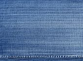 image of denim wear  - Worn blue denim jeans texture - JPG