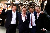 NEW YORK-MAY 31: (L to R) Nick Lachey, Drew Lachey, Jeff Timmons and Justin Jeffre of 98 Degrees per