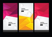 stock photo of letterhead  - Vector abstract background set EPS 10 - JPG