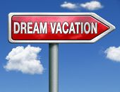 dream vacation pointing toward holiday destination summer winter or spring vacations to exotic places travel the world and enjoy life poster