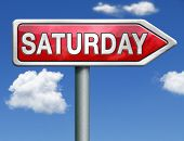 Saturday week next or following day schedule concept for appointment or event in agenda red road sig
