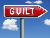 guilt guilty and convicted for a crime in court