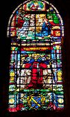 Queen Isabella Stained Glass Cathedral Of Saint Mary Of The See Seville Spain