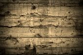 Old wooden background with cracked paint texture