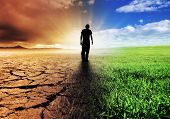 stock photo of loneliness  - A Climate Change Concept Image - JPG