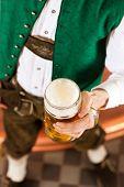 picture of stein  - Man in Bavarian Tracht - JPG