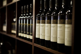 pic of wine cellar  - A large selection of wines at a Winery in the Margaret River area of South Western Australia